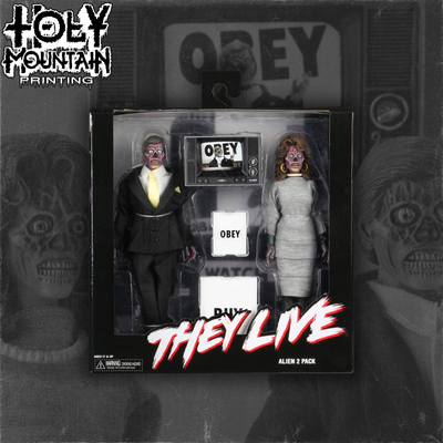 NECA - They Live – 8″ Clothed Action Figures – Alien 2 Pack