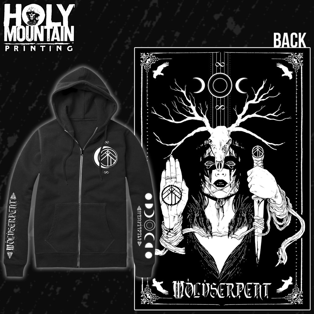 "WOLVSERPENT ""GUARDIAN"" ZIP UP SWEATSHIRT"