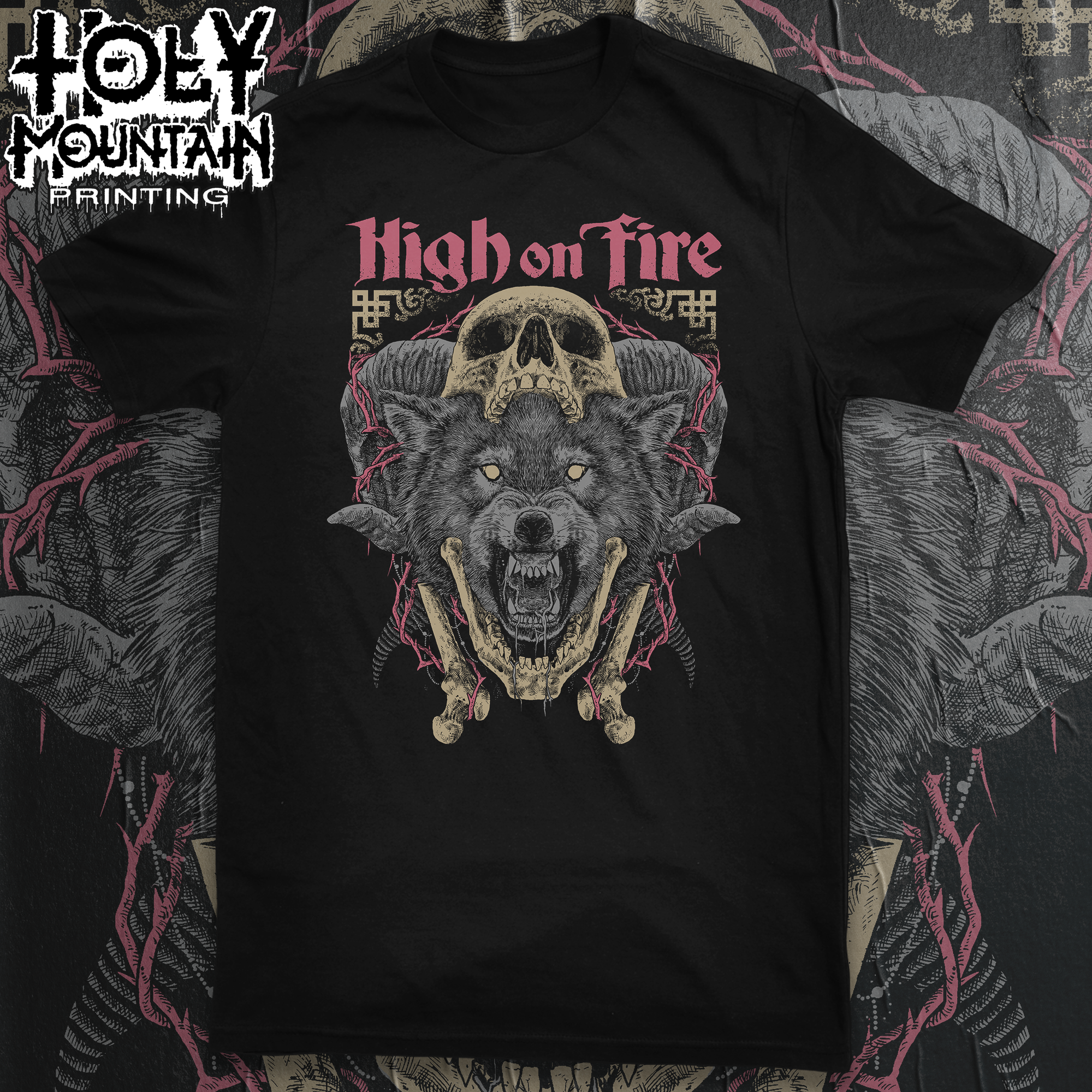 "HIGH ON FIRE ""WOLF"" SHIRT"