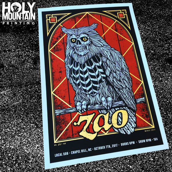 "ZAO ""THE OWLS ARE NOT WHAT THEY SEEM"" POSTER"