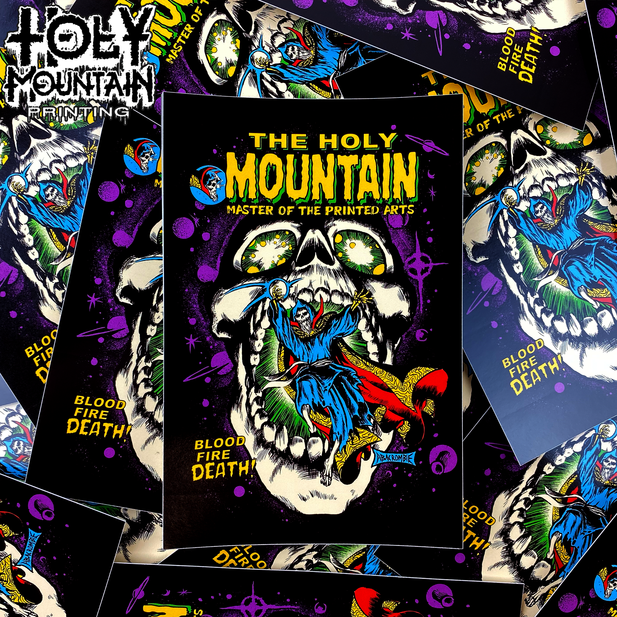 "HOLY MOUNTAIN ""MASTER OF PRINTED ARTS"" STICKER"