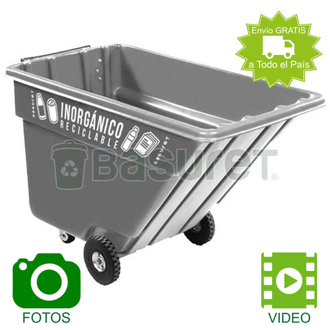 Contenedor inclinable para Basura BW-750 Inorgánico Reciclable 750 Lt