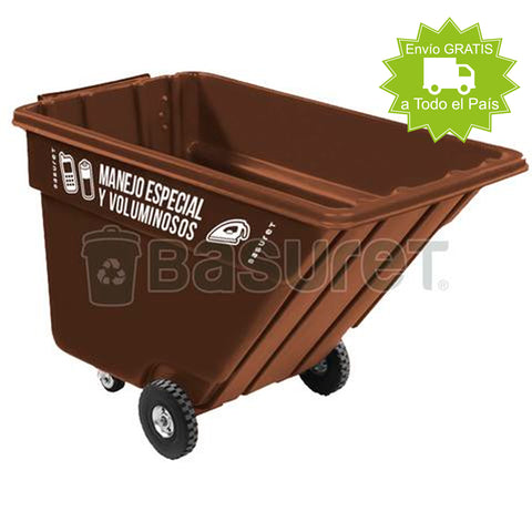 Contenedor inclinable para Basura BW-750 Manejo Especial y Voluminoso 750 Lt