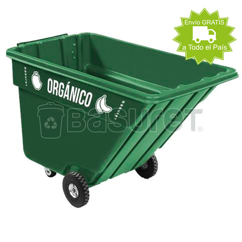 Contenedor inclinable para Basura BW-750 Orgánico, 750 Lt, 162x84x104 cm