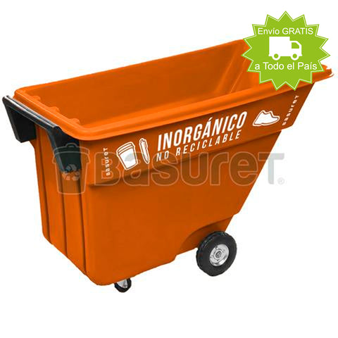 Contenedor inclinable para Basura BW-500 Inorgánico no Reciclable, 500 Lt, 140x69x87 cm