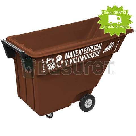 Contenedor inclinable para Basura BW-500 Manejo Especial y Voluminoso 500 Lt