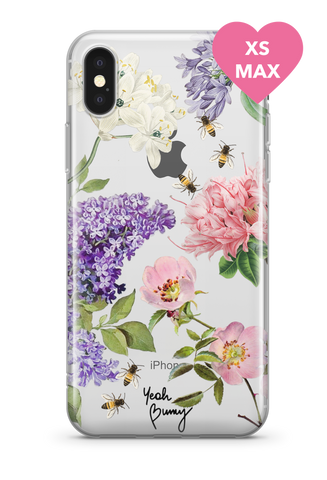 Case - Pink Flowers - Iphone Xs MAX