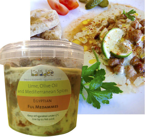 EGYPTIAN FUL MEDAMMES WITH LIME AND OLIVE OIL