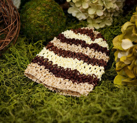 Waffle Beanie Hat (Honeycomb Stripes) - Ema Jane
