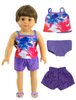 "18"" Doll Summer Beachwear, '', Ema Jane Boutique"