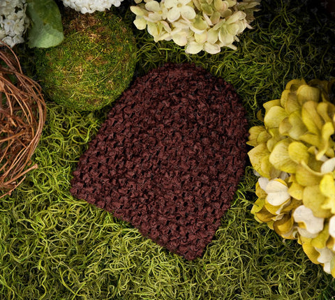 Waffle Beanie Hat (Chocolate Brown) - Ema Jane