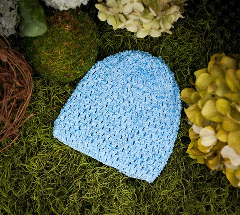 Waffle Beanie Hat (Light Blue) - Ema Jane