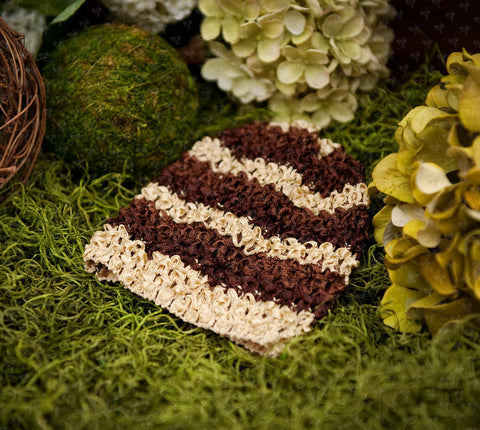 Waffle Beanie Hat (Chocolate Brown Stripes) - Ema Jane
