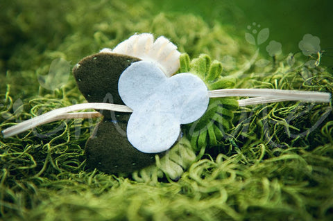 Loopy Triplet Felt Flowers (Cream, Lime, Wheat Grass), Headbands,Bows,Hair Flowers, Ema Jane Boutique