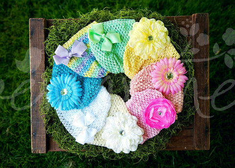 Pastel Super Soft Crocheted Hat Pack with Accessories - Ema Jane
