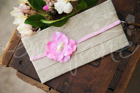 Pearl Hydrangea Flowers on Soft Stretch Headbands - Ema Jane