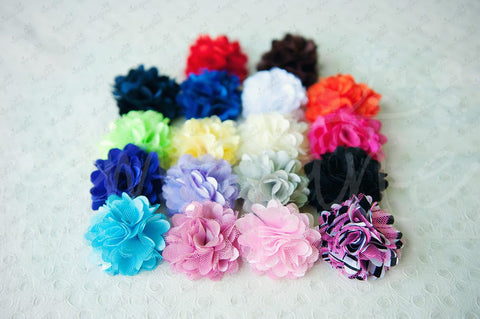 Mesh Satin Flower Hair Clips - Ema Jane