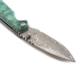 asMODus x Ultroner Damascus Styled Stabilized Wood Knife (PROMO) - Asmodus Wholesale