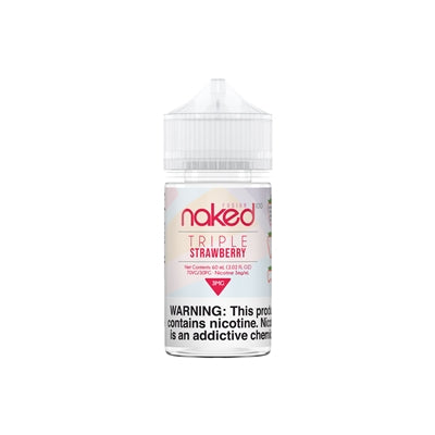 Naked 100 Fusion Triple Strawberry E-Liquid 60ML - Asmodus Wholesale