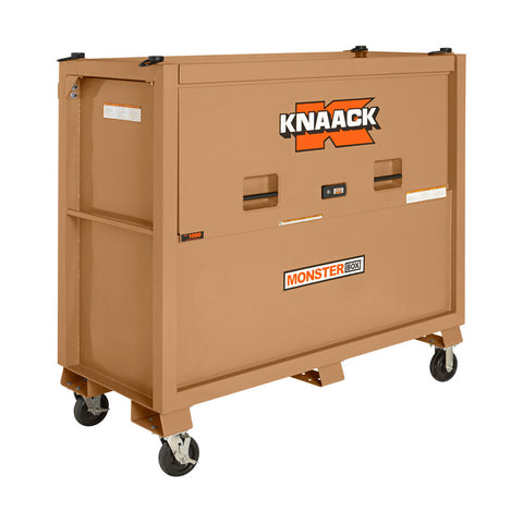 Knaack 1000 Monster Box 66 x 30 x 54-1/2  Jobsite Gang Box with Piano Top