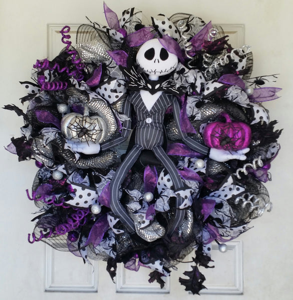 Jack Skellington Nightmare Before Christmas Halloween Door Wreath Fandom