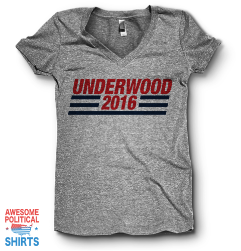 Underwood 2016 | V Neck on a Shirts at Awesome Political Shirts Dot Com