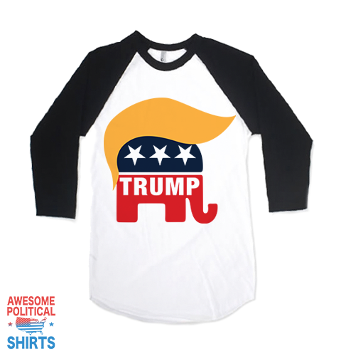 Trump Elephant Toupe on a Shirts at Awesome Political Shirts Dot Com