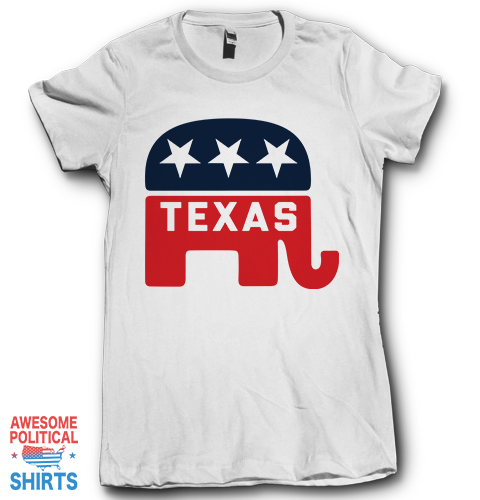 Texas on a Shirts at Awesome Political Shirts Dot Com