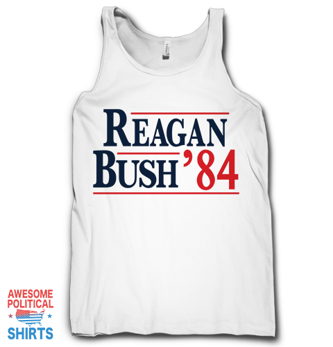 Reagan Bush '84 on a Tanks at Awesome Political Shirts Dot Com