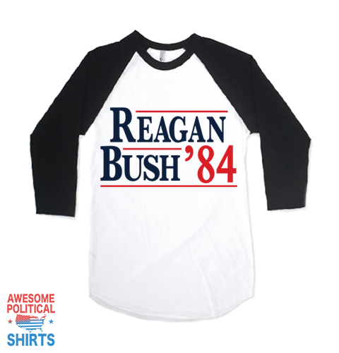 Reagan Bush '84 on a Shirts at Awesome Political Shirts Dot Com