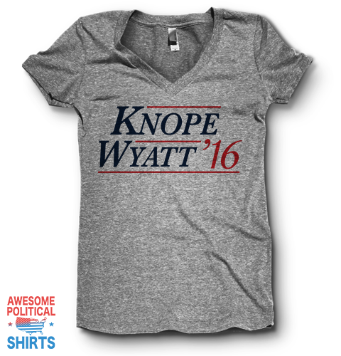 Knope, Wyatt '16 | V Neck on a Shirts at Awesome Political Shirts Dot Com