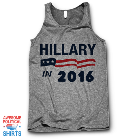 Hillary In 2016 on a Tanks at Awesome Political Shirts Dot Com