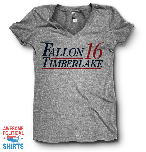 Fallon Timberlake '16 | V Neck on a Shirts at Awesome Political Shirts Dot Com