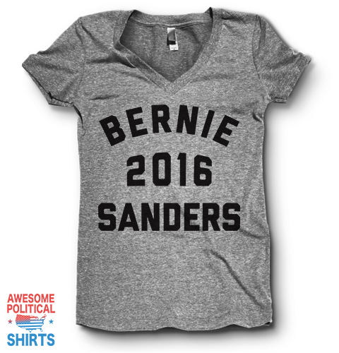 Bernie 2016 Sanders | V Neck on a Shirts at Awesome Political Shirts Dot Com