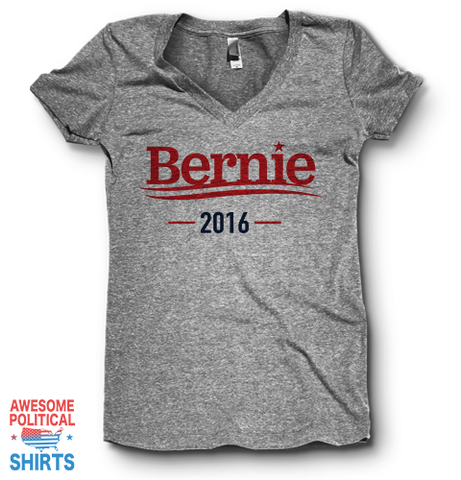 Bernie 2016 | V Neck on a Shirts at Awesome Political Shirts Dot Com