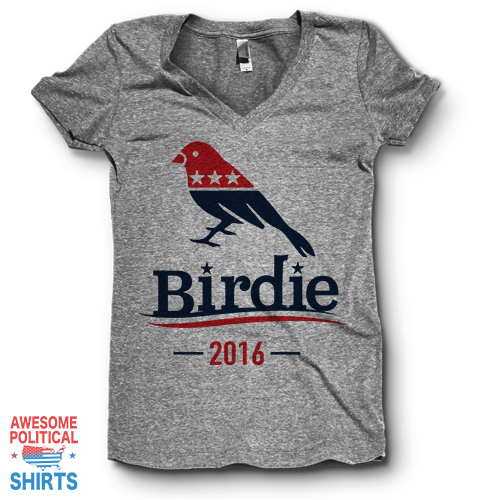 Birdie | V Neck on a Shirts at Awesome Political Shirts Dot Com