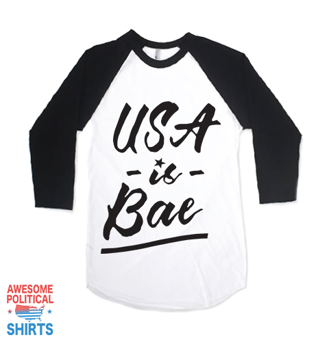 USA Is Bae, Black on a Shirts at Awesome Political Shirts Dot Com