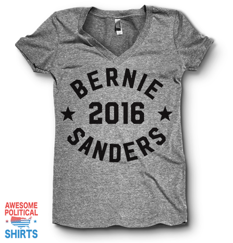 Bernie Sanders For President 2016 | V Neck on a Shirts at Awesome Political Shirts Dot Com