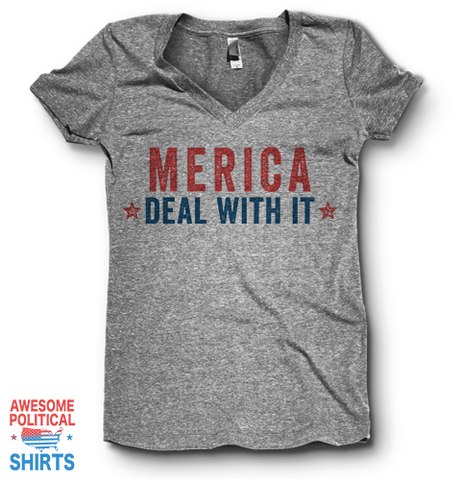 Merica. Deal With It. | V Neck
