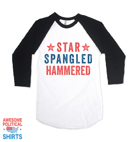 Star Spangled Hammered on a Shirts at Awesome Political Shirts Dot Com