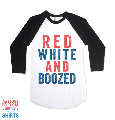Red White And Boozed on a Shirts at Awesome Political Shirts Dot Com