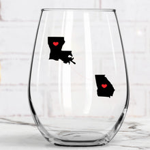 Load image into Gallery viewer, Never Too Far To Wine Together Wine Glass
