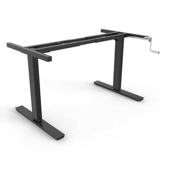 Manual desk frames