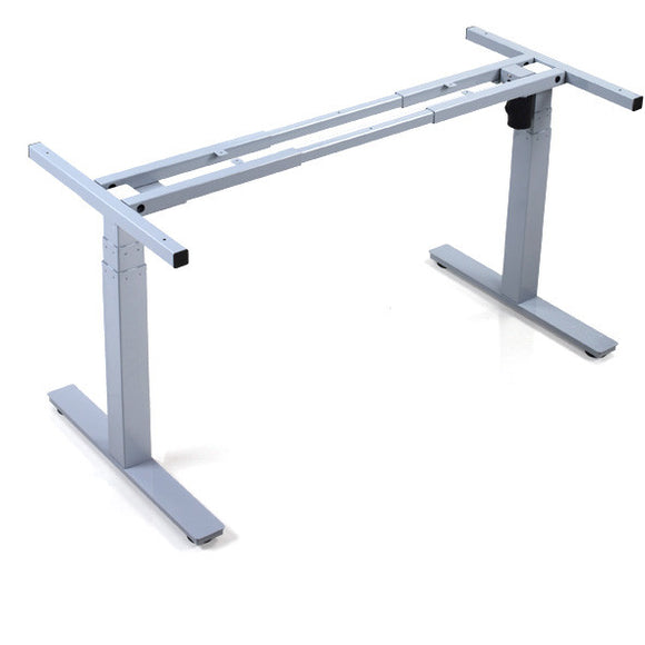 Single motor desk frames