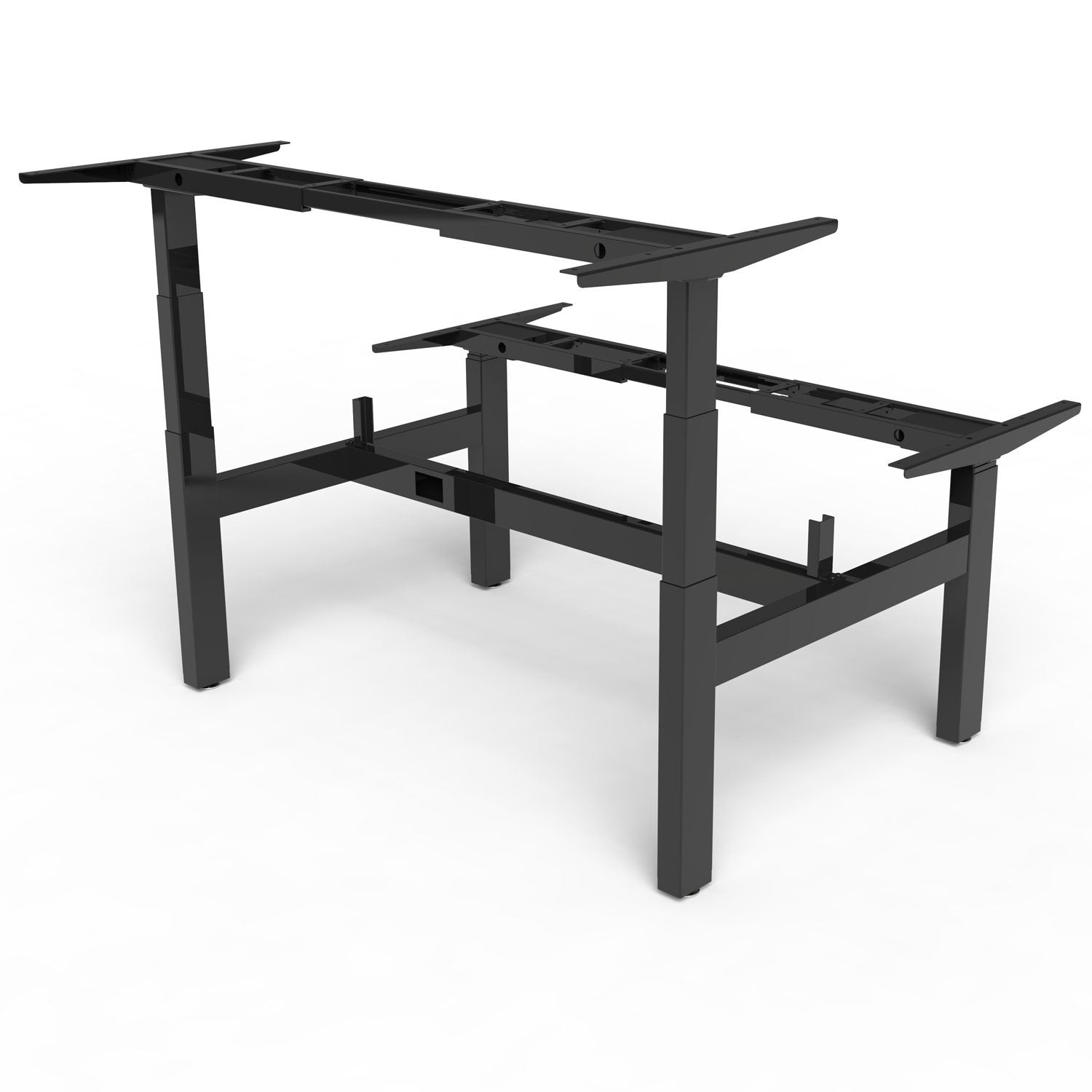 Sit stand bench frame
