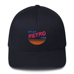 Sunset Retro Baseball Cap (Black Flexfit)