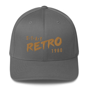 Stay Retro Baseball Cap (Grey/Gold Flexfit)