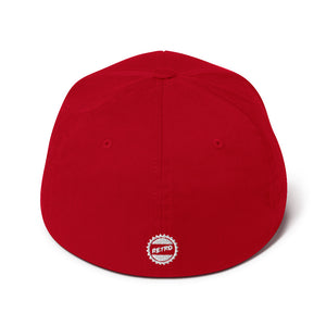Stay Retro Baseball Cap (Red Flexfit)