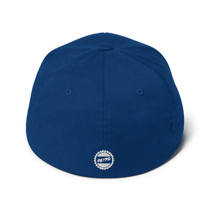 Stay Retro Baseball Cap (Blue Flexfit)