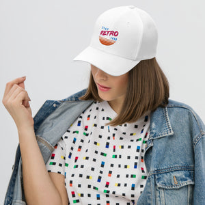 Sunset Retro Baseball Cap (White Flexfit)